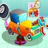 Állatos autós szerelős játék