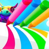 Színes ceruza futós játék