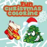 Vidám karácsonyi kifestő